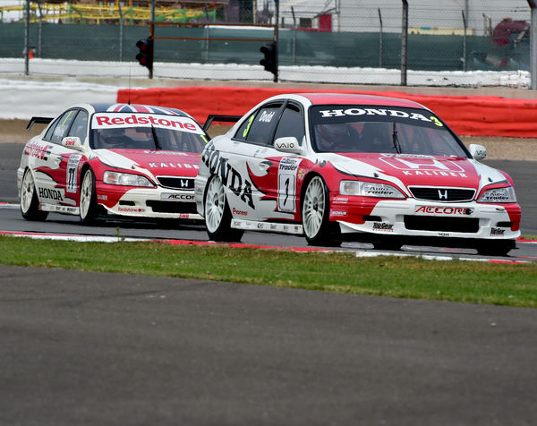 James Dodd, Honda Accord, Stewart Whyte, Honda Accord, Super touring cars, Silverstone Classic 2014, 2014, Classic Racing Cars, historic racing cars, HSCC, Jet, Jet Super Touring Car Trophy, July 2014, motor racing, motorsport, Northamptonshire