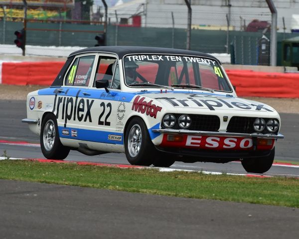 Alun Edwards, John Edwards, Triumph Dolomite Sprint, Super touring cars, Silverstone Classic 2014, 2014, Classic Racing Cars, historic racing cars, HSCC, Jet, Jet Super Touring Car Trophy, July 2014, motor racing, motorsport, Northamptonshire
