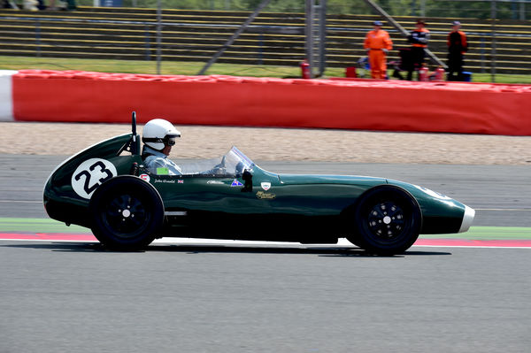 John Arnold, Elva 100, Peter Arundell Trophy for Historic Formula Junior, Silverstone Classic 2014, 2014, 2014, Classic Racing Cars, Historic Formula Junior, historic racing cars, HSCC, July 2014, motor racing, motorsport, Northamptonshire, nostalgia