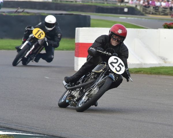 Bill Swallow, Sam Rhodes, Velocette MT 500, Alejandro Tejedo, Joaquin Folch-Rusinol, Norton Manx, Barry Sheene Memorial Trophy, Goodwood Revival 2014, 2104, Barry Sheene Memorial Trophy, bike racing, classic bikes, Goodwood, Goodwood Revival