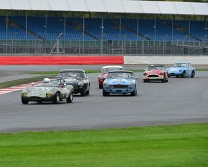 CJ5 1560 Shadi leads the pack through Luffield
