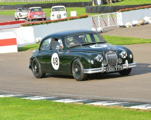 CJ5 5527 Stuart Graham, Richard Butterfield, Jaguar Mk1, UDU 779