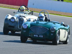 CJ5 7376 James Wilmot-Smith, Austin Healey 100-4M, Christopher Scholey, Jaguar XK120