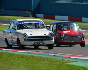 CJ7 2824 Richard Bateman, Stephen Upsdell, Ford Lotus Cortina, Tom Bell, Austin Mini