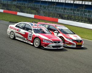 CM1 9976 Matt Neal, Honda Civic Tourer, Stewart Whyte, Honda Accord, BTCC, Super