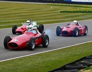 CM12 1976 Mark Hales, Maserati 250F, Barry Cannell, Cooper Climax T51, Steve Tillack