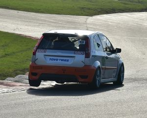 CM17 5782 Ford Fiesta hops the kerb at Surtees