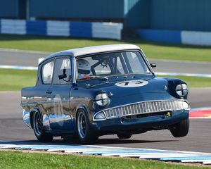 CM18 4739 Robyn Slater, Ford Anglia 105E, Historic Touring Cars