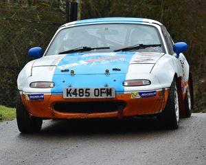 motorsport 2018/mgj winter rally stages brands hatch january/cm22 1593 paul sheard steve dolman mazda mx 5