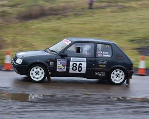 motorsport 2018/mgj winter rally stages brands hatch january/cm22 1871 chris clarke robert ginn peugeot 205