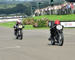 CM4 8371 Bill Swallow, Sam Rhodes, Velocette MT500, Scott Smart, Glen Richards, Norton