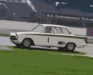 CM5 3877 Tim Davies, Ford Lotus Cortina, CNR 76 C