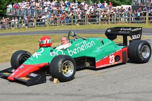 Marco Cajani, Benetton, Alfa Romeo 183t, Goodwood Festival of Speed 2013