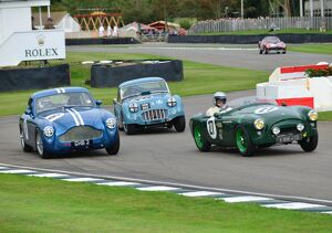 Three go round the chicane, Goodwood Revival 2013